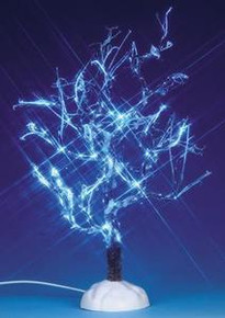 94999 - Lighted Ice Glazed Tree, Blue, Battery-Operated (4.5v) - Lemax Christmas Village Trees