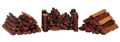 34955 -  Stacked Firewood, Set of 3 - Lemax Christmas Village Misc. Accessories