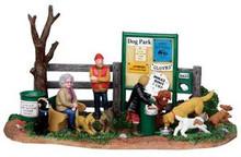 13910 - Dog Park - Lemax Christmas Village Table Pieces