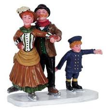 62249 -  Skating Follies - Lemax Christmas Village Figurines