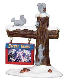 24493 - Ski Map  - Lemax Christmas Village Misc. Accessories