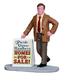 12919 - Realtor - Lemax Christmas Village Figurines
