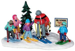 33018 - Ski School  - Lemax Christmas Village Table Pieces