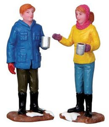 22028 - Chit-Chat Time, Set of 2  - Lemax Christmas Village Figurines