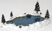 94387 -  Mill Pond, Set of 6 - Lemax Christmas Village Landscape Items