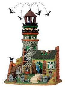 15209 - The Lighthouse Ruins, with 4.5v Adaptor - Lemax Spooky Town Halloween Village Houses & Buildings