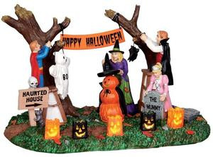24477 - Decorating for Halloween, Battery-Operated (4.5v)  - Lemax Spooky Town Halloween Village Accessories