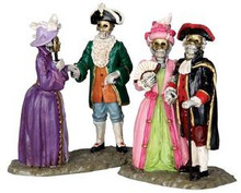 32106 - Masquerade Ball, Set of 2  - Lemax Spooky Town Halloween Village Figurines