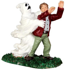 42206 - Ghost Grasps Victim  - Lemax Spooky Town Halloween Village Figurines