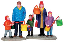 42268 - St. Martin's Day Frolic, Set of 2  - Lemax Christmas Village Figurines