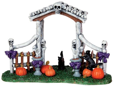 43064 - Bone Arbor  - Lemax Spooky Town Halloween Village Accessories