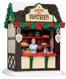 43095 - Fresh Pastries Market Stall  - Lemax Christmas Village Table Pieces