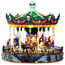 34605 - Scary-Go-Round, with 4.5-volt Adaptor  - Lemax Spooky Town Halloween Village Accessories