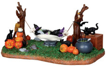 44731 - Witches' R & R, Battery-Operated (4.5-volt)  - Lemax Spooky Town Halloween Village Accessories