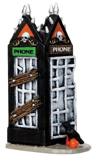 44739 - Spooky Phone Booth  - Lemax Spooky Town Halloween Village Accessories