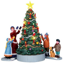 44754 - The Village Tree, Set of 3, Battery-Operated (4.5v)  - Lemax Christmas Village Table Pieces