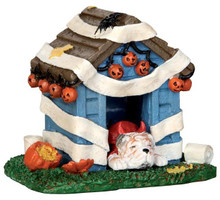 44778 - Tricked Out Doghouse  - Lemax Spooky Town Halloween Village Accessories