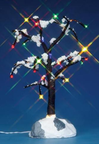 44784 - Snowy Dry Tree, Medium, Battery-Operated (4.5v) - Lemax Christmas Village Trees