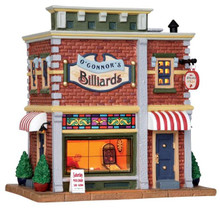 25417 - O'Connor's Billiards  - Lemax Harvest Crossing Christmas Houses & Buildings
