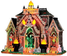 35491 - All Hallows Mausoleum, with 4.5v Adaptor  - Lemax Spooky Town Halloween Village Houses & Buildings