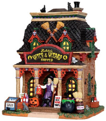 35601 - Zelda's Witch & Wizard Supply  - Lemax Spooky Town Halloween Village Houses & Buildings
