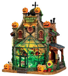 45661 - Hemlock's Nursery, with 4.5v Adaptor  - Lemax Spooky Town Halloween Village Houses & Buildings