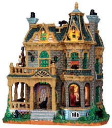 45662 - Withered Mansion, with 4.5v Adaptor  - Lemax Spooky Town Halloween Village Houses & Buildings