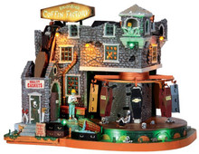 45669 - Box-Of-Bones Coffin Factory, with 4.5v Adaptor  - Lemax Spooky Town Halloween Village Houses & Buildings