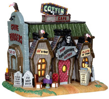 45675 - Coffin Cafe  - Lemax Spooky Town Halloween Village Houses & Buildings