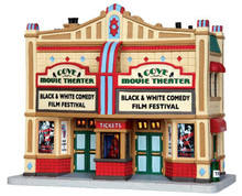 45682 - Cove Movie Theater  - Lemax Jukebox Junction Christmas Houses & Buildings