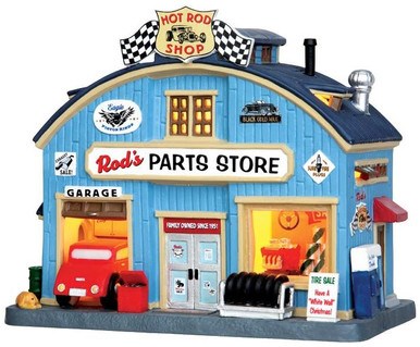 45707 - Rod's Parts Store  - Lemax Jukebox Junction Christmas Houses & Buildings