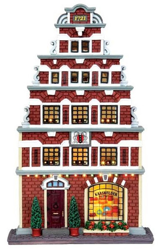 45732 - Cheese Seller, Battery-Operated (4.5v)  - Lemax Christmas Village Facades