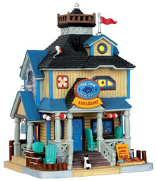 45754 - The Fish Merchant  - Lemax Plymouth Corners Christmas Houses & Buildings