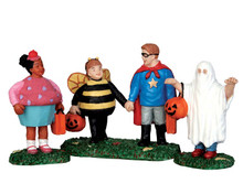 52304 - New Trick or Treaters, Set of 3 - Lemax Spooky Town Figurines