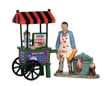52311 - Zombie Brains Foodcart, Set of 2 - Lemax Spooky Town Figurines