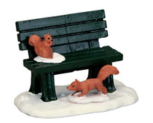 54938 - Park Bench in Winter - Lemax Misc. Accessories