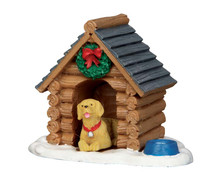 54943 - Log Cabin Dog House - Lemax Misc. Accessories