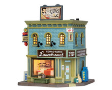 55966 - Coin-O-Matic Laundromat - Lemax Jukebox Junction Christmas Houses & Buildings