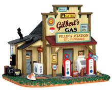55977 - Gilbert's Gasoline Station - Lemax Harvest Crossing Christmas Houses & Buildings