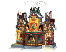 55026 - Holiday Hamlet Christmas Shoppe, with 4.5v Adaptor  - Lemax Caddington Village Christmas Houses & Buildings