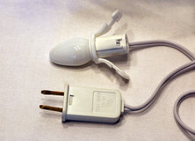 99907 - Cannibalized Light Cord, White - Lemax Electrical Accessories