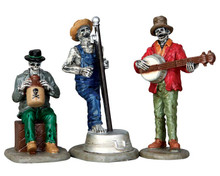 62421 - Jeeperscreeper's Jugband, Set of 3 - Lemax Spooky Town Figurines