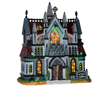 65072 - All Hallows Cathedral, with 4.5-Volt Adaptor - Lemax Spooky Town Houses