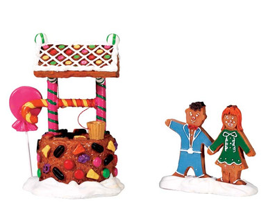 73295 - Wishing Well of Delight, Set of 2 - Lemax Sugar N Spice Accessories