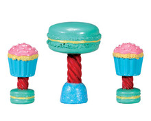 74205 - Dessert Table Set, Set of 3 - Lemax Sugar N Spice Accessories