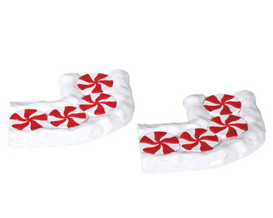 74207 - Candy Cane Lane, Curved, Set of 2 - Lemax Sugar N Spice Accessories
