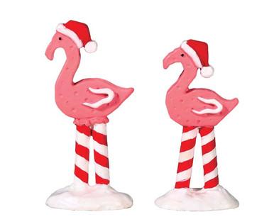 74209 - Pink Flamingos, Set of 2 - Lemax Sugar N Spice Accessories