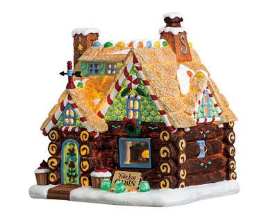 75178 - Yule Log Cabin, Battery-Operated (4.5v) - Lemax Sugar N Spice Houses