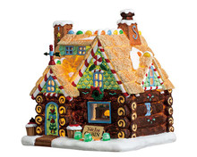 75178 - Yule Log Cabin, Battery-Operated (4.5v) - Lemax Sugar N Spice Houses