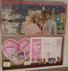 Vintage Board Games - Barbie Dream Date - Golden